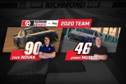 ZACK NOVAK & JIMMY MULLIS TO DRIVE FOR RICHMOND RACEWAY ESPORTS FUELED BY SUNOCO IN 2020 ENASCAR IRACING WORLD CHAMPIONSHIP SERIES